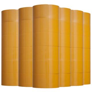 天章办公(TANGO) 探戈高品质封箱胶带胶带打包宽胶带60mm*100y(91.4米)米黄色 30卷/箱