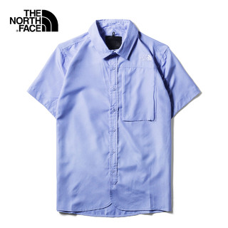 THE NORTH FACE 北面 URBAN EXPLORATION 3LE4 男士速干短袖衬衫 (蓝色、L)