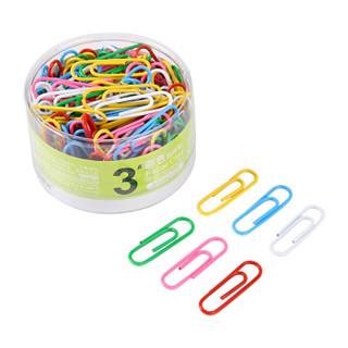 晨光(M&G)3号防锈彩色回形针曲别针160枚/盒 6盒装ABS92795