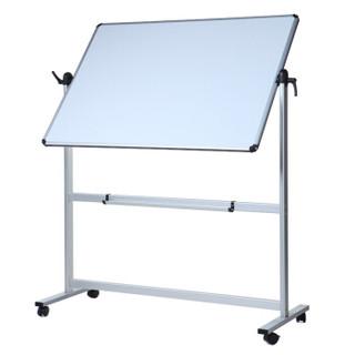 AUCS 白板写字板支架式120*90cm 移动办公教学会议磁性大黑板双面 WB01311102