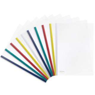 齐心(Comix) 10个装 A4彩色强夹力抽杆夹/报告夹/文件夹 EA85 办公文具