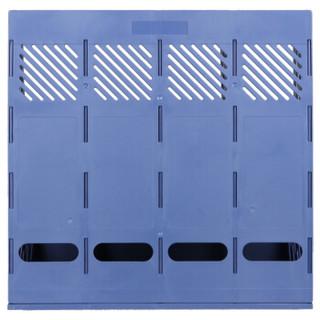 天章办公(TANGO) 探戈加厚加固四联文件栏/文件框/文件架/资料架 蓝色