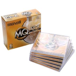 麦克赛尔(maxell)CD-R光盘 刻录光盘 光碟 空白光盘 48速700M 1片盒装,5盒/包