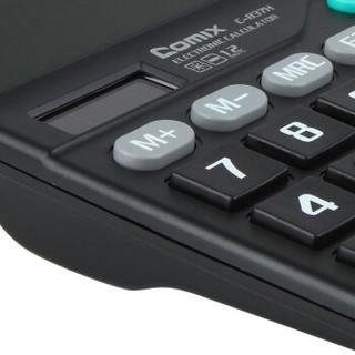 齐心(Comix) 12位中台办公经典计算器 黑色  办公文具 C-837H