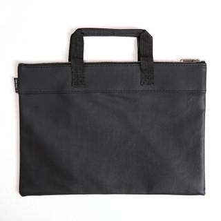 信发(TRNFA) TB-300-4 A4双层皮革资料袋文件袋公文包 手提袋 拉链资料加厚拉边袋 宣传培训收纳袋 会议包