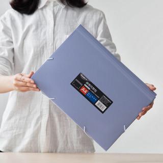 广博(GuangBo)A4绑带多层文件夹/公文包/风琴包 晶彩颜色随机 单个装A9161