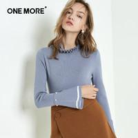 ONE MORE 11HF747333 女士套头针织衫 (灰蓝、S)