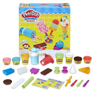 Hasbro 孩之宝 培乐多 彩泥黏土创意厨房系列 E0042 冰激凌甜点套装