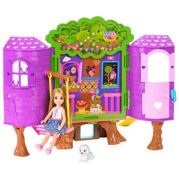 京东PLUS会员 : Barbie 芭比 小小梦想家系列 FPF83 小凯莉树屋礼盒套装
