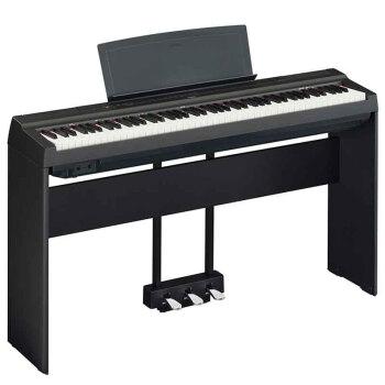 YAMAHA 雅马哈 P125 智能数码电钢琴(黑色、含主机+木架+三踏板+单踏板)