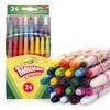 Crayola 绘儿乐 儿童绘画涂鸦蜡笔 52-9724 24色迷你可拧转不可水洗蜡笔