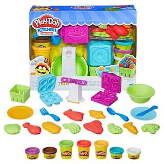 Hasbro 孩之宝 培乐多橡皮泥儿童礼物厨房系列  E1936 手工DIY彩泥模具套装