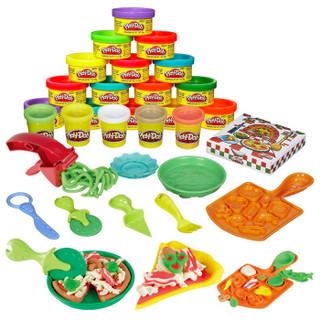 Hasbro 孩之宝 培乐多手工DIY彩泥创意厨房系列 披萨派对+多彩派对包
