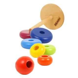 木玩世家 儿童彩虹宝塔叠叠乐玩具