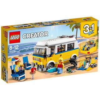 LEGO 乐高 百变三合一系列 31079 阳光海滩房车