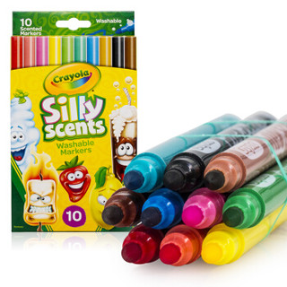 Crayola 绘儿乐 儿童绘画玩具百变香味系列   58-5071 10色细杆水彩笔