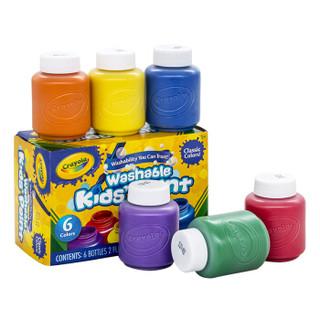 Crayola 绘儿乐 54-1204 水彩颜料 6色 经典装