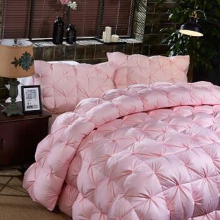 Bejirog 北极绒 80%白鸭绒羽绒被 扭花款-粉色 200*230cm