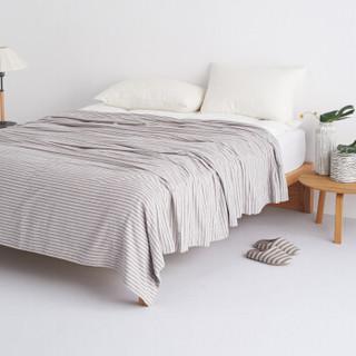 DAPU 大朴 纯棉细条纹毛巾被 浅米色 180*200cm