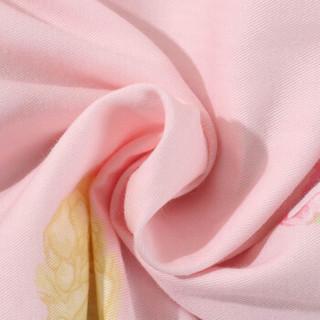 MERCURY 水星家纺 全棉印花夏被 清雅如歌浅粉 200*230cm