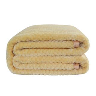 OBXO 源生活 珊瑚绒夏季空调毯 米黄色 150*200cm