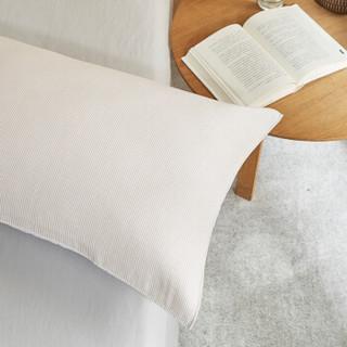 大朴(DAPU)枕巾家纺 A类枕巾 美国Supima棉纱布条纹枕巾一对装 纯棉纱布毛圈 驼色条纹 50*80cm
