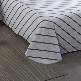 迎馨家纺 全棉斜纹加大双人床单三件套纯棉床单套件1.5/1.8米床 绅士条纹A版 230*250/48*74*2