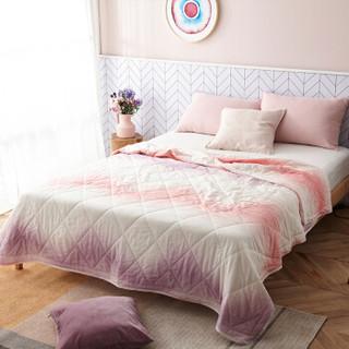 DAPU 大朴 纱布印花棉花薄被 紫色 200*230cm