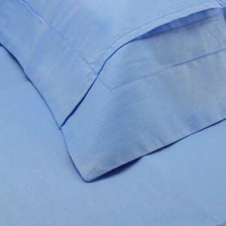 OBXO 源生活 纯棉纯色枕套 天蓝色 一只装 48*74cm