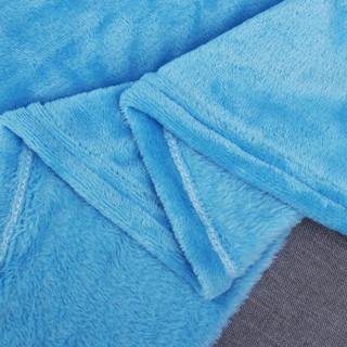 自然醒 法兰绒毛毯 浅蓝色 150*200cm