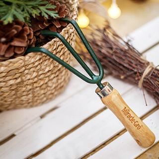 美乐棵 家庭园艺三齿耙 盆栽园艺 养花工具 大号耙子 园艺工具