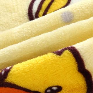 LOVO 乐我家纺 小黄鸭 法兰绒毯