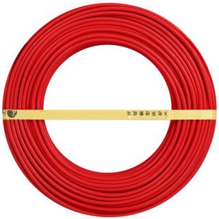 飞雕(FEIDIAO)电线电缆 BV2.5平方 国标家用铜芯电线单芯单股铜线100米 红色火线