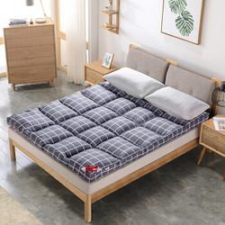 北极绒 加厚羽丝绒棉床褥子可折叠床护垫榻榻米双人垫被 立体床垫150*200cm 简约格调