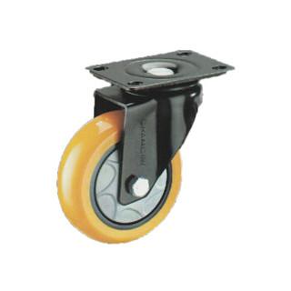 常成(chamcen)5寸平底活动橙黄色聚氨酯轮 B4-22125-31E 承重160万向轮 /个
