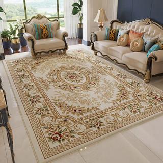 港龍 欧式地毯客厅茶几沙发地毯卧室满铺床头毯书房地毯 06IV 133*190cm