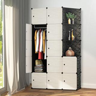 安尔雅(ANERYA) 简易衣柜 现代简约成人衣橱组装塑料卧室收纳柜 大容量