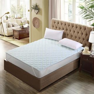 安睡宝(somerelle)床垫 千鸟格多针绗缝床垫-浅蓝150*200cm