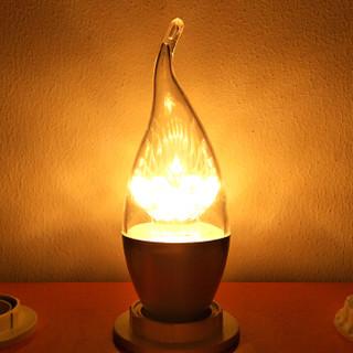 FSL 佛山照明 LED蜡尾泡 E14小口 暖白光银色 5W*10支