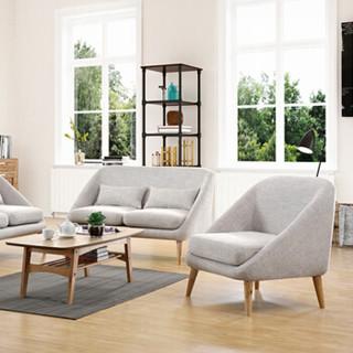 好事达易美定制沙发 北欧简约客厅布艺沙发 实木椅腿可半拆洗 灰色单人位107