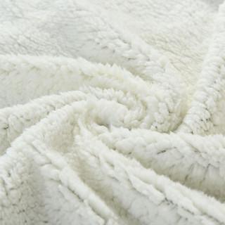 迎馨家纺 双层法兰绒毛毯 墨绿色 150*200cm