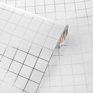 斯图sitoo 防油贴纸厨房油烟机灶台马赛克防油纸耐高温铝箔贴纸ST1146 45cm*5m马赛克白色