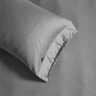 turqua 时光居品 60支长绒棉纯色四件套 床笠款 金属灰 1.5米床