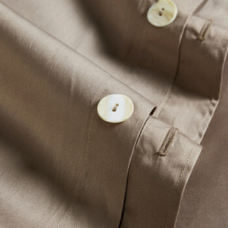 turqua 时光居品 全棉60支贡缎被套 流沙金 220*240cm