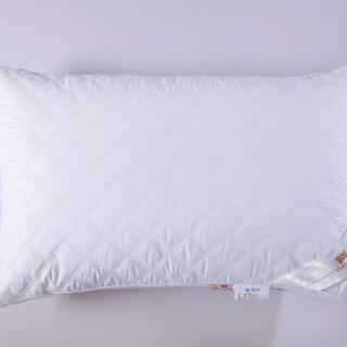 迎馨家纺 全棉羽丝绒枕芯 方格枕 1只装 48*74cm