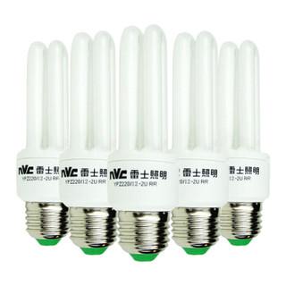 nvc-lighting 雷士照明 2U型节能灯 E27大口 6500K 12W*5支