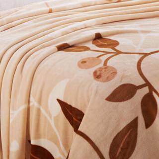 恒源祥 珊瑚绒毛毯 树叶 180*200cm