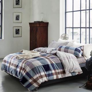 迎馨家纺 全棉单人床上三件套 学生宿舍床单被套三件套 单人1.2米床 运动风潮