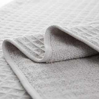 DAPU 大朴 纯棉华夫格枕巾 灰色 50*80cm 一对装