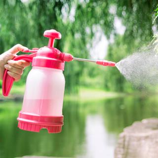农宝 花卉植物浇水壶 浇花洒水壶 园艺浇灌水壶 家居家用洒水壶 气压喷壶 1.2L长嘴可排气 喷壶 粉红色